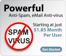 Powerful anti-spam, email antivirus starting at just $1.85 per user