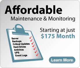 Affordable maintenance and monitoring starting at just $175 per month
